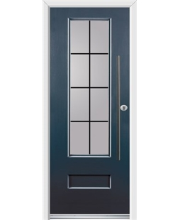 Ultimate Vogue Rockdoor in Anthracite Grey with Square Lead and Bar Handle