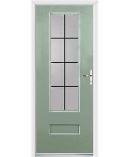Ultimate Vogue Rockdoor in Chartwell Green with Square Lead