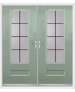 Vogue French Rockdoor in Chartwell Green with Square Lead
