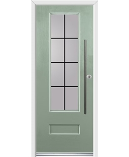 Ultimate Vogue Rockdoor in Chartwell Green with Square Lead and Bar Handle