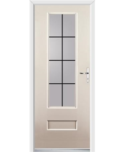 Ultimate Vogue Rockdoor in Cream with Square Lead
