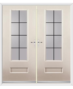 Vogue French Rockdoor in Cream with Square Lead