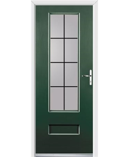 Ultimate Vogue Rockdoor in Emerald Green with Square Lead