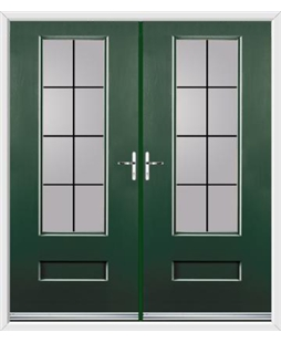 Vogue French Rockdoor in Emerald Green with Square Lead