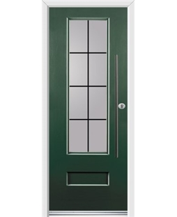 Ultimate Vogue Rockdoor in Emerald Green with Square Lead and Bar Handle