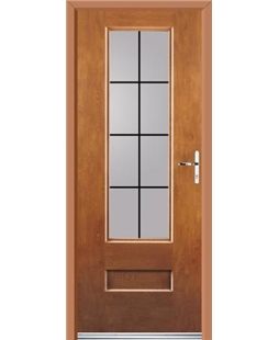 Ultimate Vogue Rockdoor in Light Oak with Square Lead