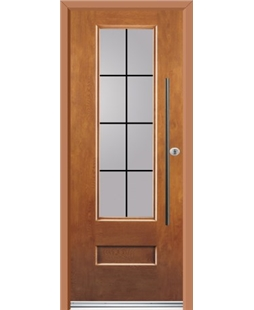 Ultimate Vogue Rockdoor in Light Oak with Square Lead and Bar Handle
