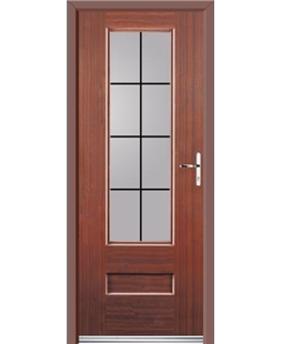 Ultimate Vogue Rockdoor in Mahogany with Square Lead