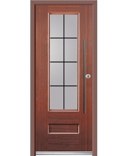 Ultimate Vogue Rockdoor in Mahogany with Square Lead and Bar Handle
