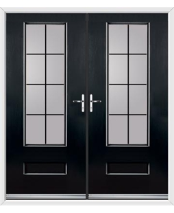 Vogue French Rockdoor in Onyx Black with Square Lead