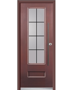 Ultimate Vogue Rockdoor in Rosewood with Square Lead and Bar Handle