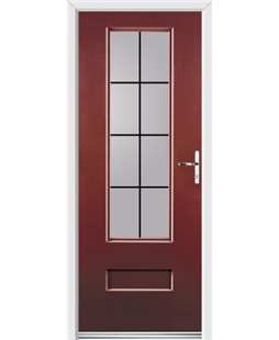Ultimate Vogue Rockdoor in Ruby Red with Square Lead