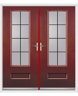 Vogue French Rockdoor in Ruby Red with Square Lead