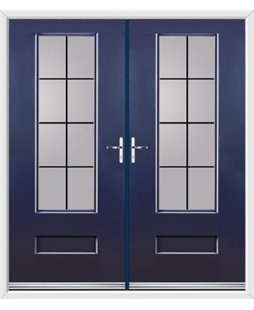 Vogue French Rockdoor in Sapphire Blue with Square Lead