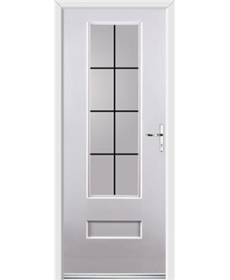 Ultimate Vogue Rockdoor in White with Square Lead