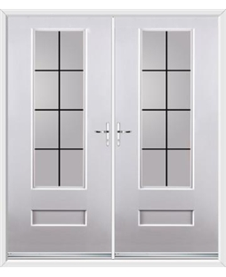Vogue French Rockdoor in White with Square Lead