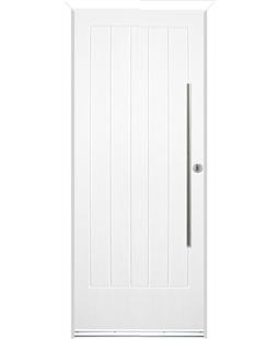 Ultimate Indiana Rockdoor in White with Bar Handle