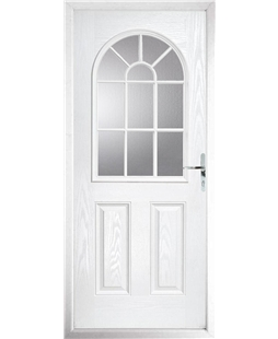 The Leeds Composite Door in White with Clear Glazing