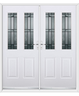 Jacobean French Rockdoor in White with Apollo