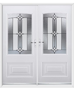Portland French Rockdoor in White with Apostle Glazing