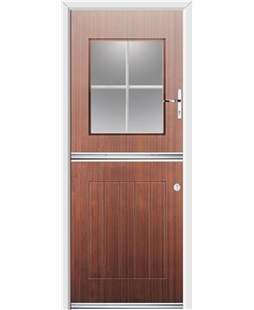 Ultimate Stable View Rockdoor in Mahogany with White Georgian Bar