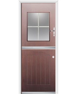 Ultimate Stable View Rockdoor in Rosewood with White Georgian Bar