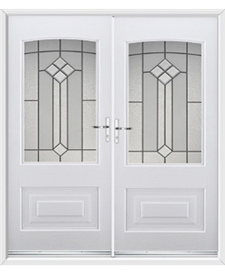 Portland French Rockdoor in White with Beacon