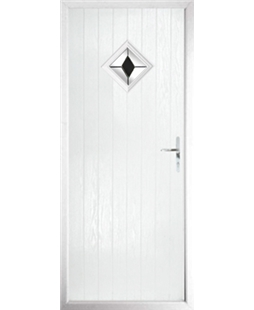 The Reading Composite Door in White with Black Diamond