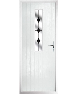 The Sheffield Composite Door in White with Black Diamonds