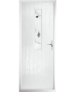 The Sheffield Composite Door in White with Black Murano