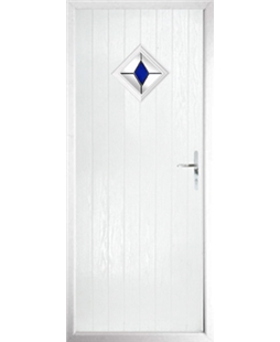The Reading Composite Door in White with Blue Diamond