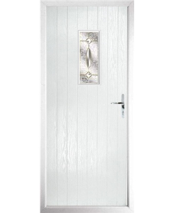 The Taunton Composite Door in White with Clarity Elegance