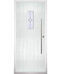 The Zetland Composite Door in White with Classic Glazing
