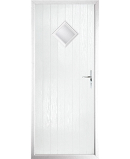 The Reading Composite Door in White with Clear Glazing