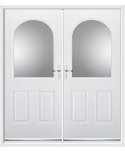 Kentucky French Rockdoor in White with Glazing