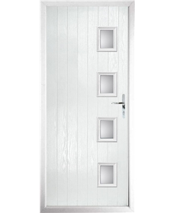 The Preston Composite Door in White with Clear Glazing