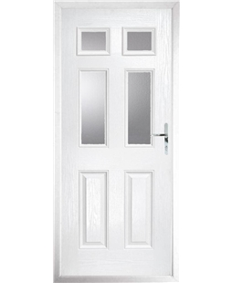 The Oxford Composite Door in White with Glazing
