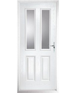 The Cardiff Composite Door in White with Glazing