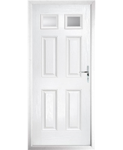 The Ipswich Composite Door in White with Clear Glazing