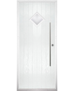 The Wolverhampton Composite Door in White with Clear Glazing