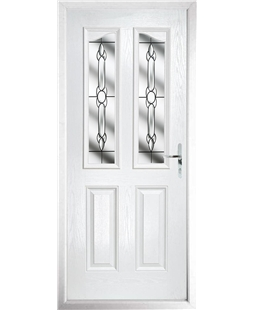 The Birmingham Composite Door in White with Crystal Bohemia