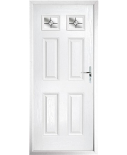The Ipswich Composite Door in White with Crystal Bohemia