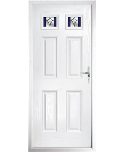 The Ipswich Composite Door in White with Blue Crystal Harmony