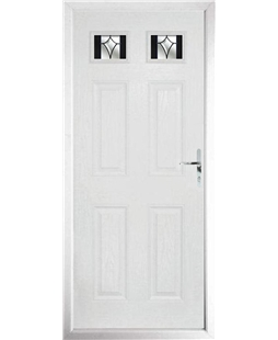 The Ipswich Composite Door in White with Black Crystal Harmony