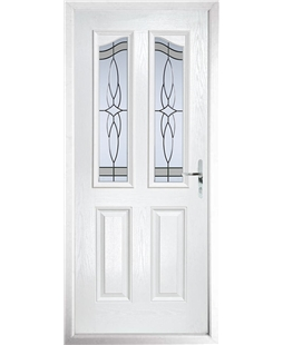 The Birmingham Composite Door in White with Crystal Harmony Frost