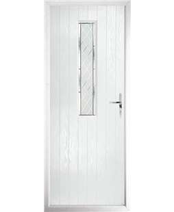The Sheffield Composite Door in White with Diamond Cut
