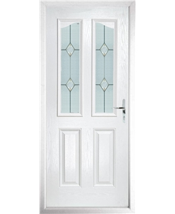 The Birmingham Composite Door in White with Classic Glazing