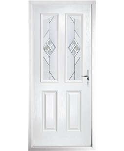 The Birmingham Composite Door in White with Eclipse Glazing