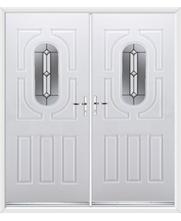 Arcacia French Rockdoor in White with Ellipse