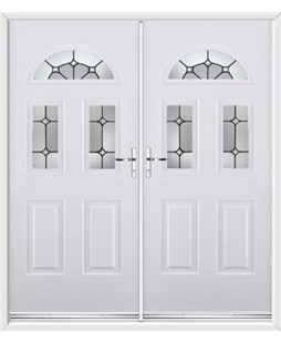 Tennessee French Rockdoor in White with Ellipse
